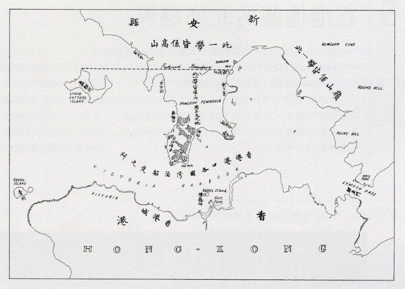 Map in the Convention of Peking