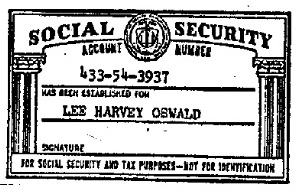 Lee Harvey Oswald's SSN card