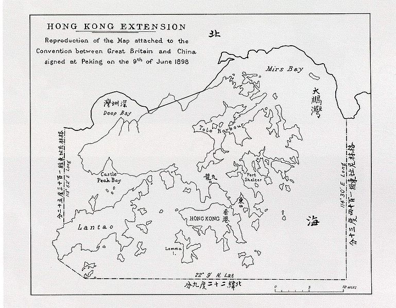 Map of the extension of HK 1898